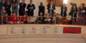 Spectators watch the New Jersey Senate vote on marriage equality. Photo credit: Chuck Colbert.